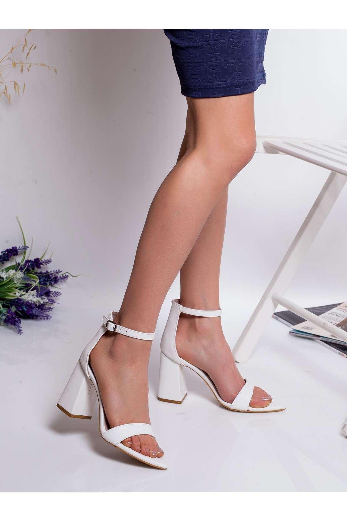 Gia Topuklu Ayakkabı BEYAZ