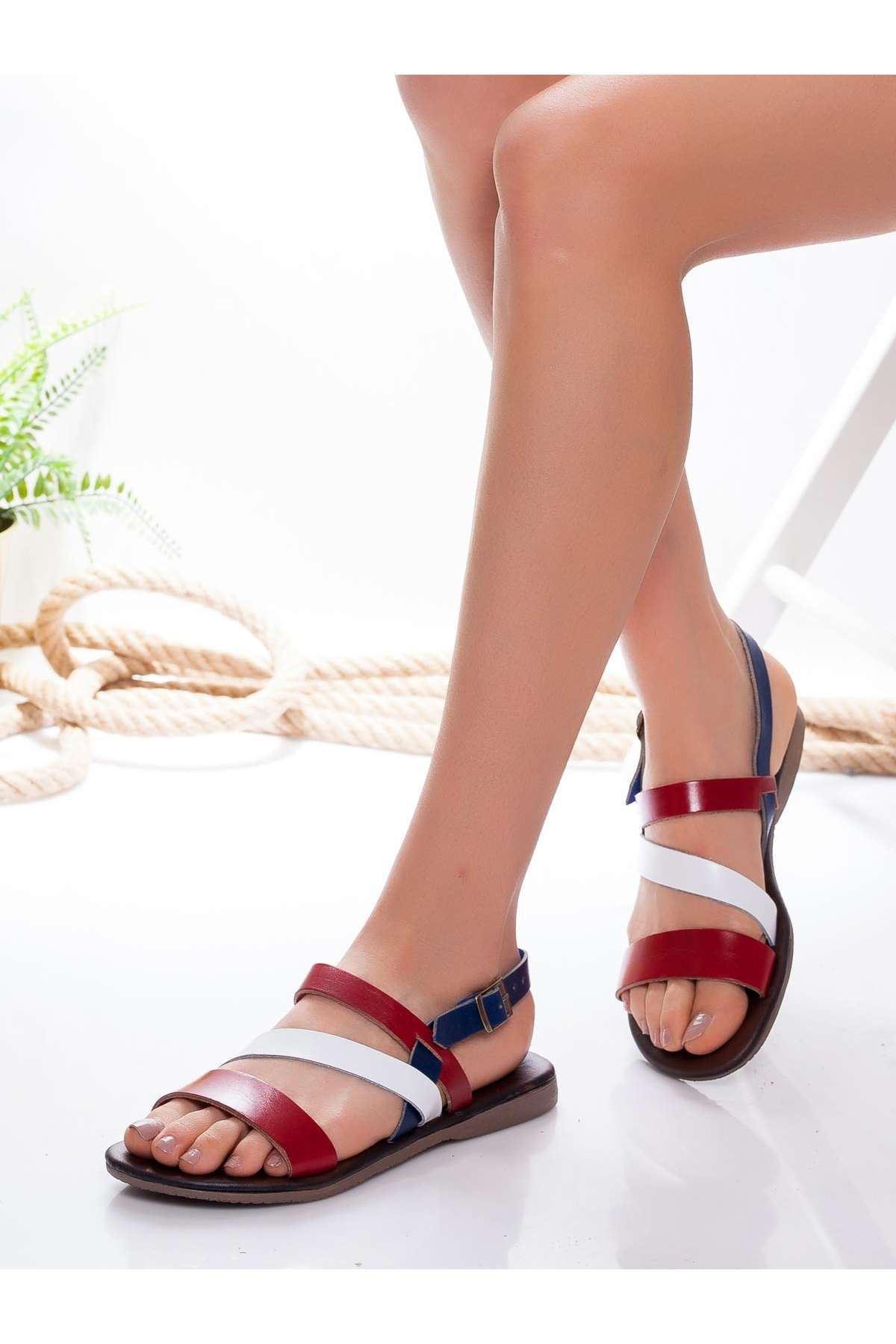 Heidi Hakiki Deri Sandalet MİX2