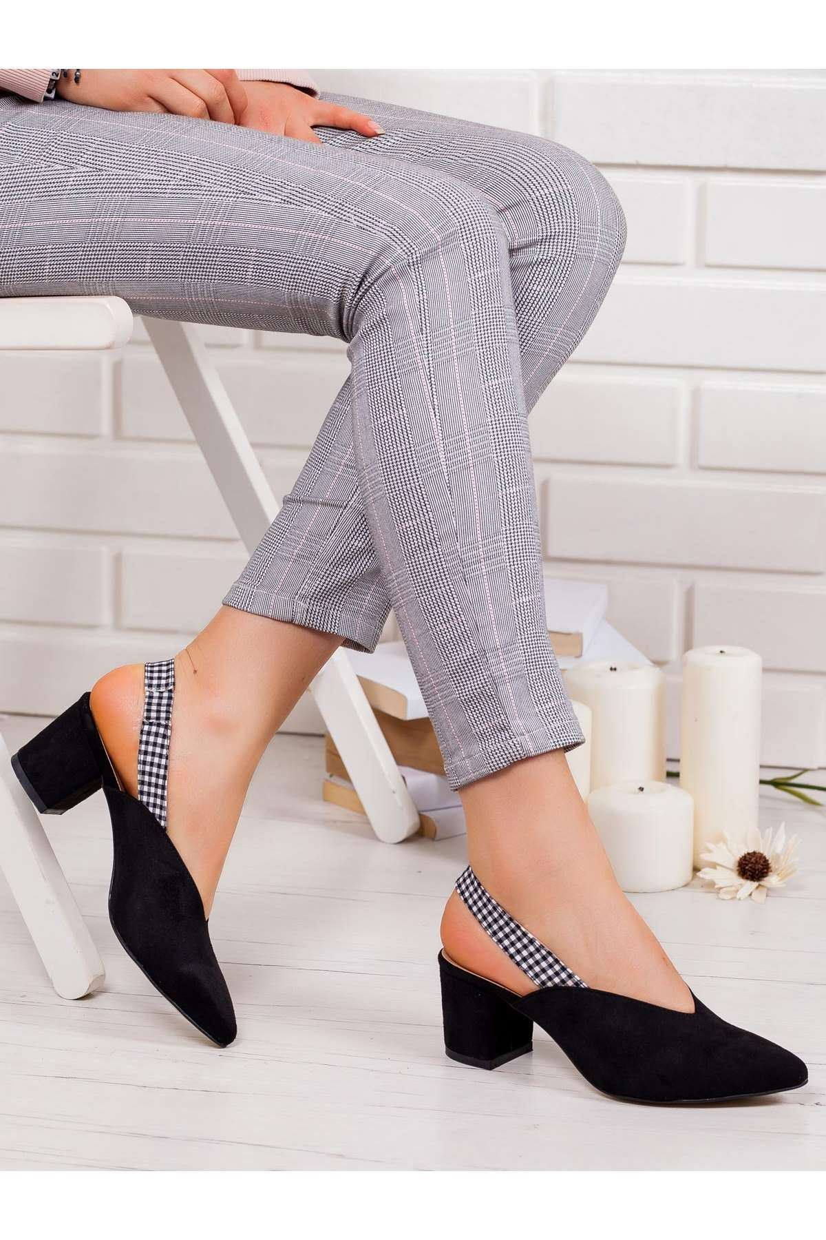 Erika Topuklu Ayakkabı SIYAH