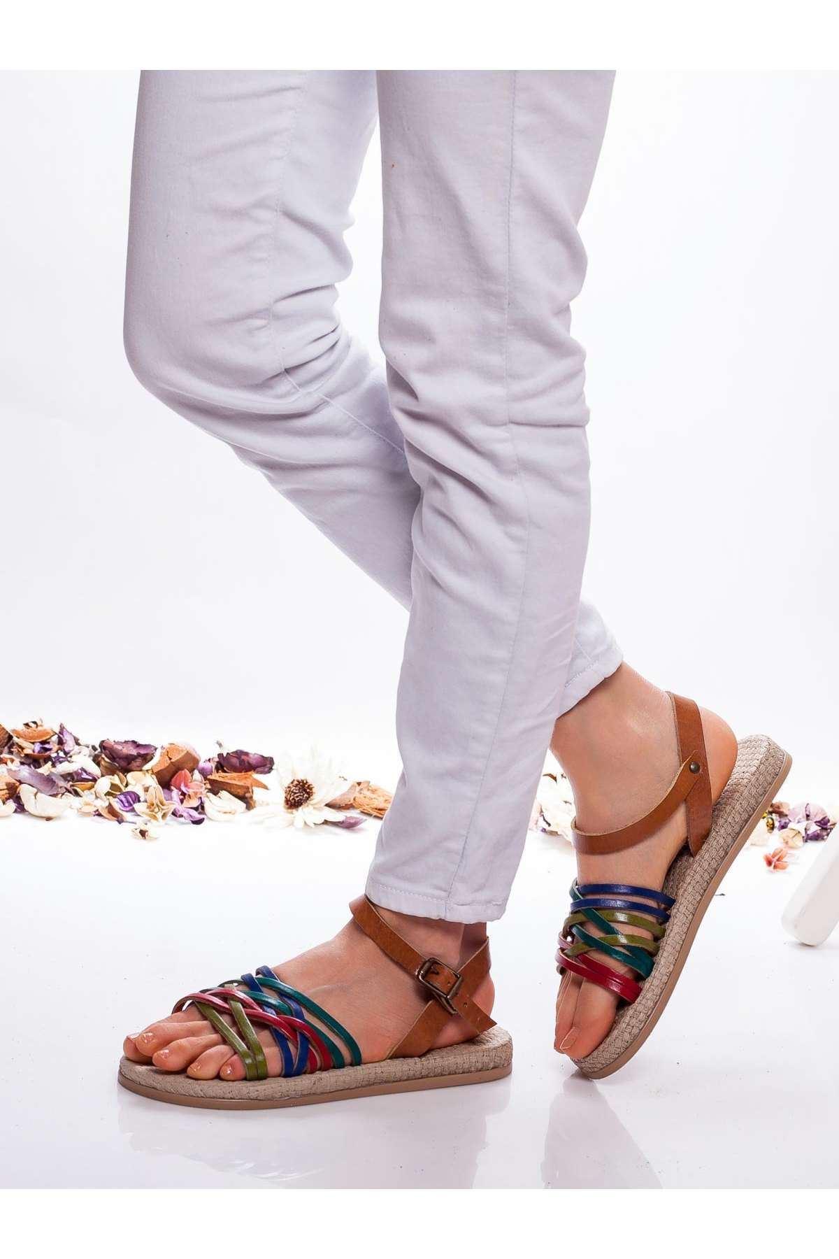Carine Hakiki Deri  Sandalet MİX