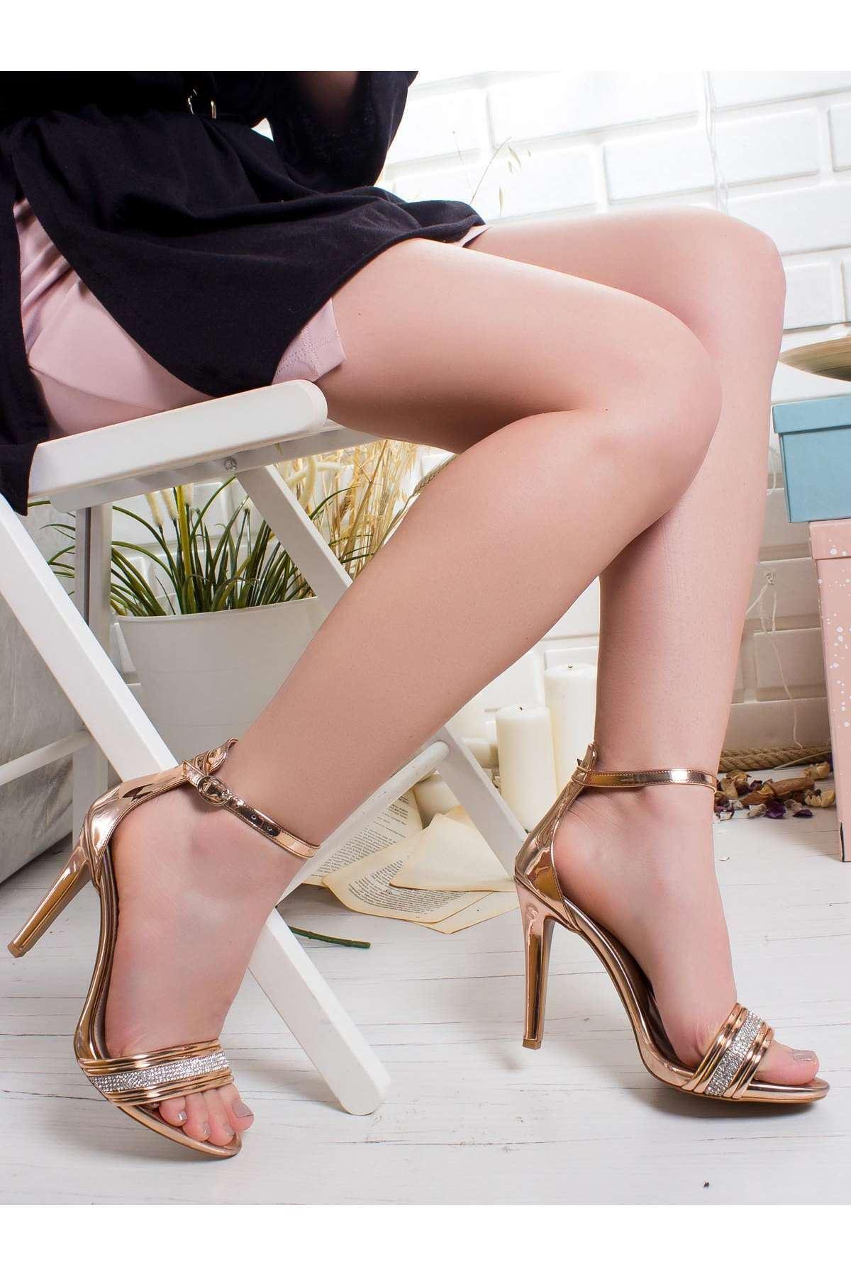 Albatros Ayna Topuklu Ayakkabı ROSE