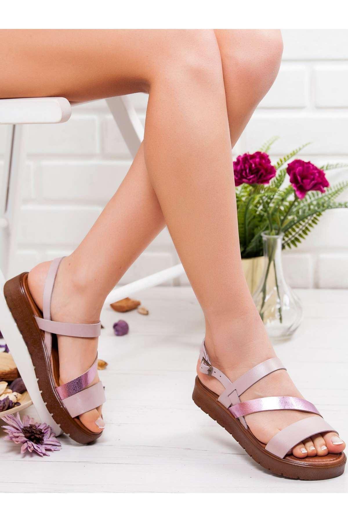 Alisa Hakiki Deri Sandalet FUJYA