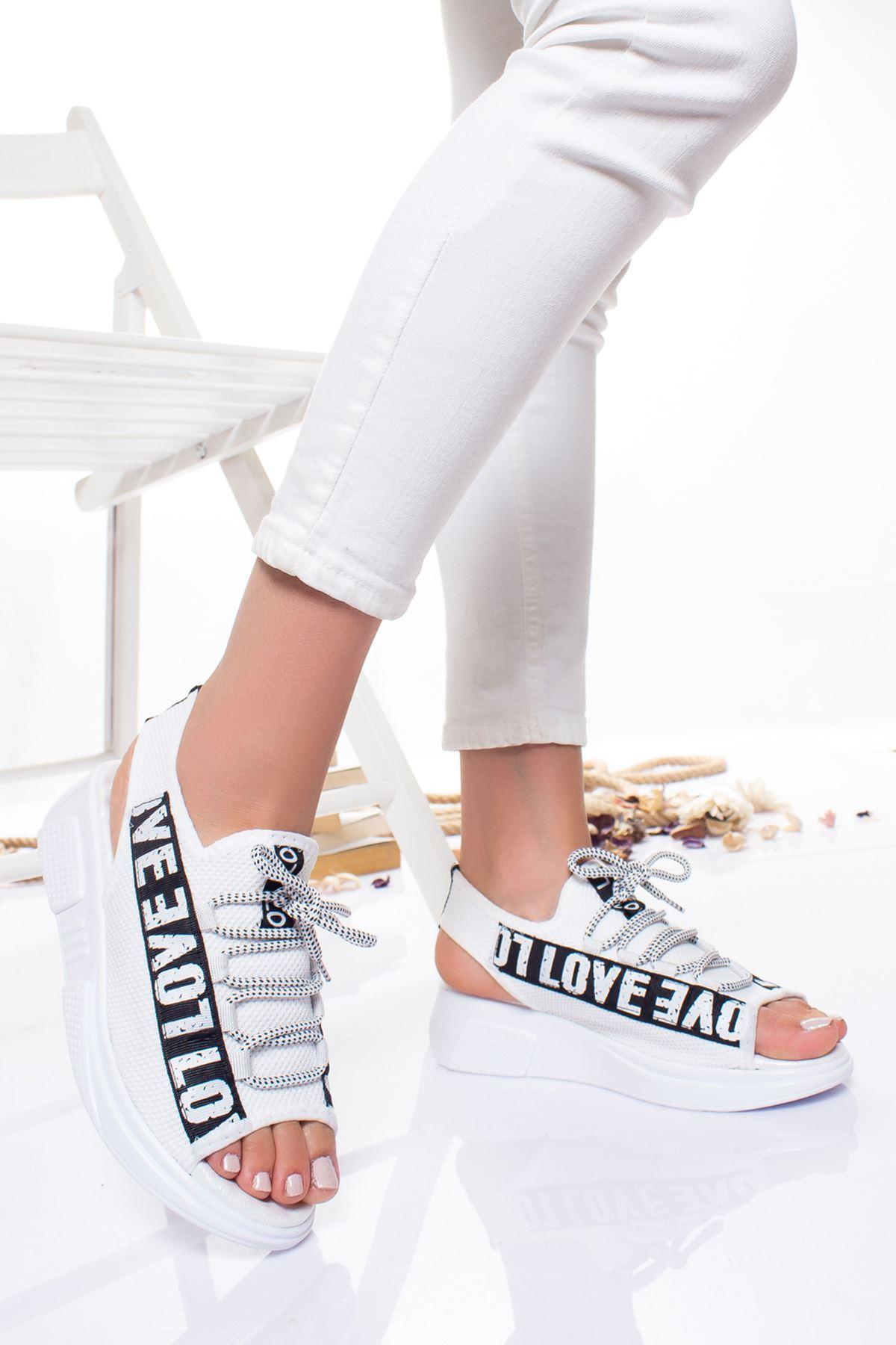Bels  Sandalet BEYAZ
