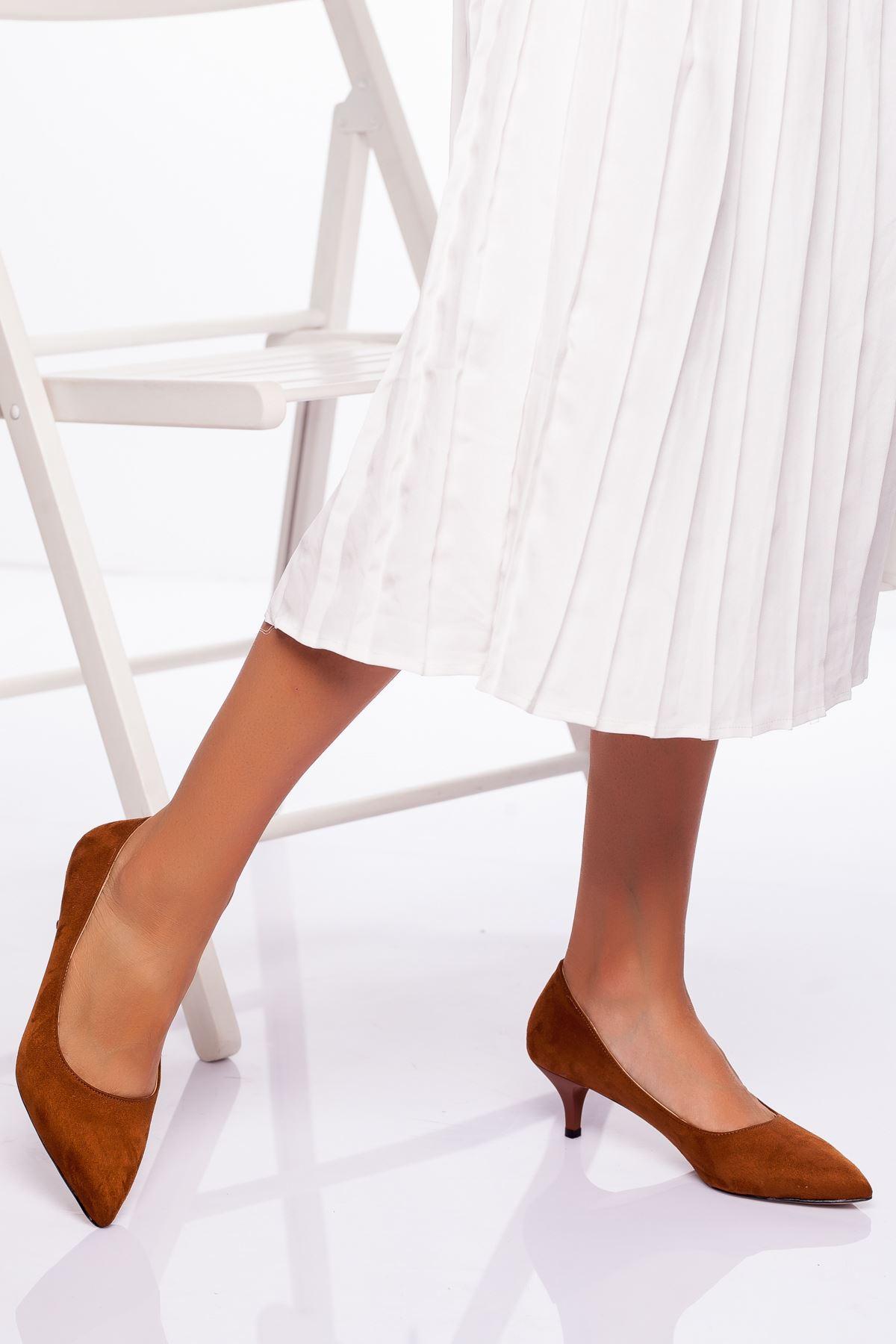 Abella Topuklu Ayakkabı TABA SÜET