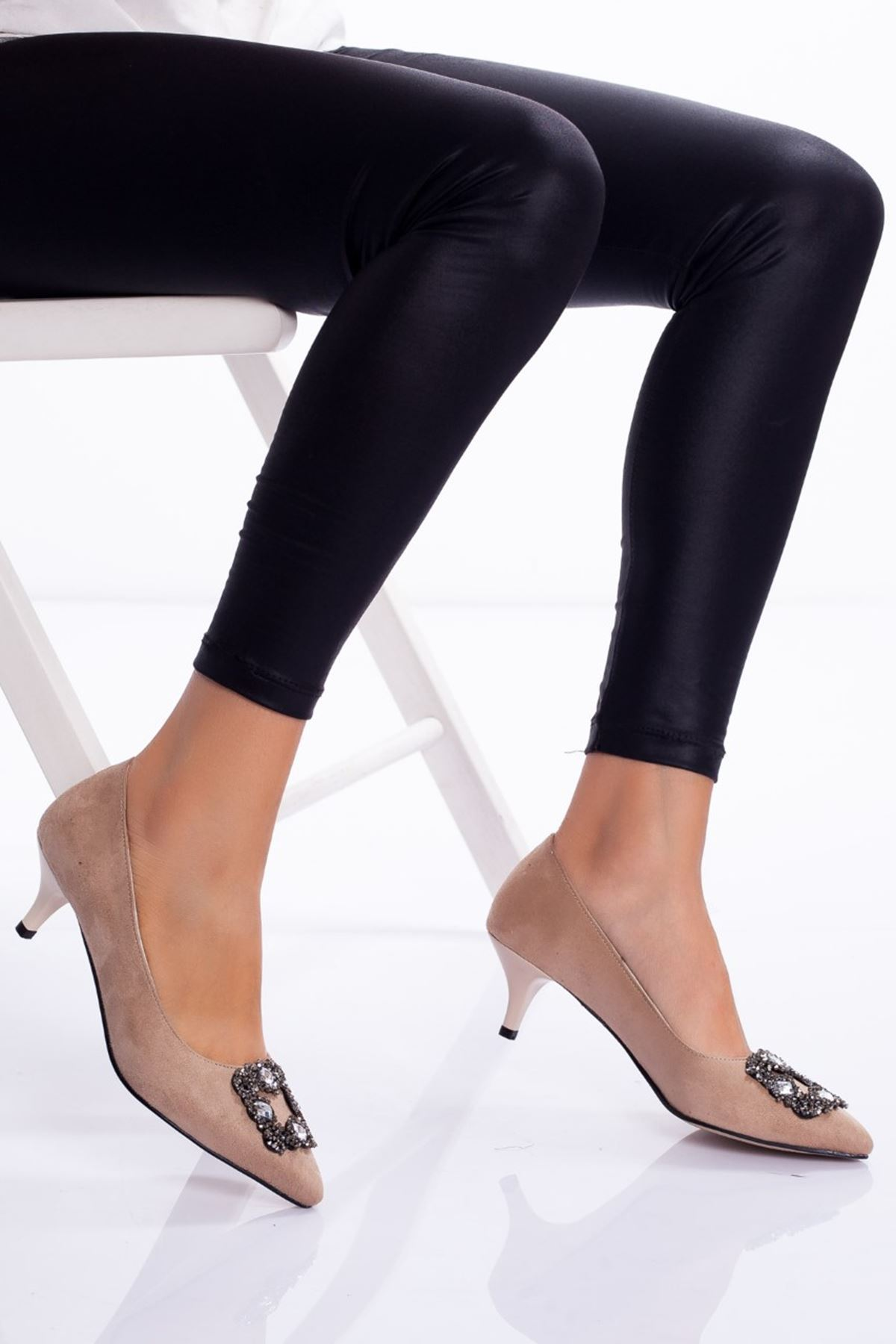 Christy Topuklu Ayakkabı TEN SÜET