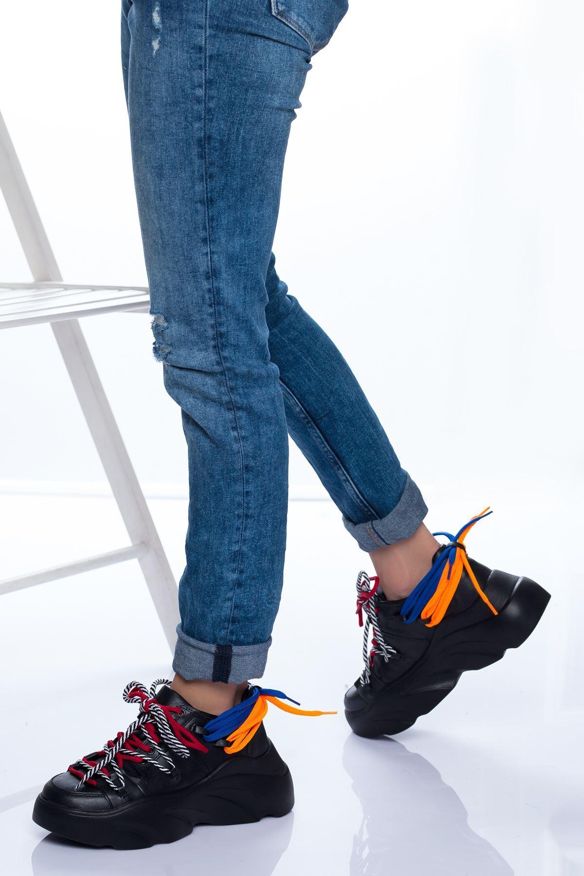 Nina Spor Ayakkabı SIYAH