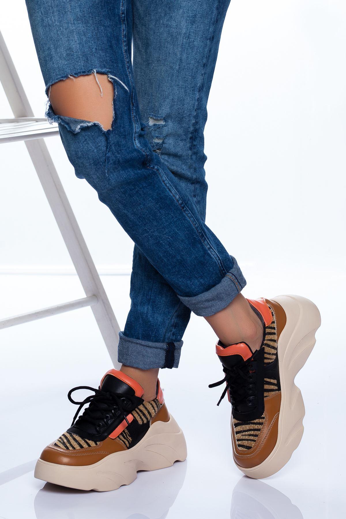 Jenna Spor Ayakkabı KAHVE