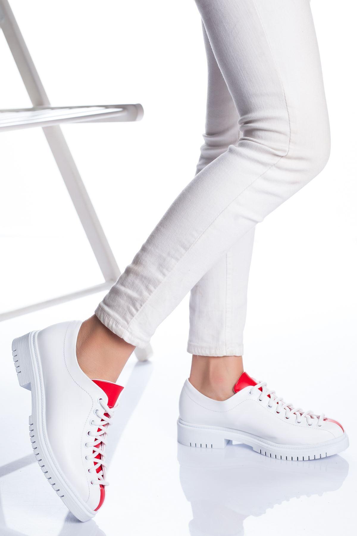 Tamara Ayakkabı BEYAZ-KIRMIZI