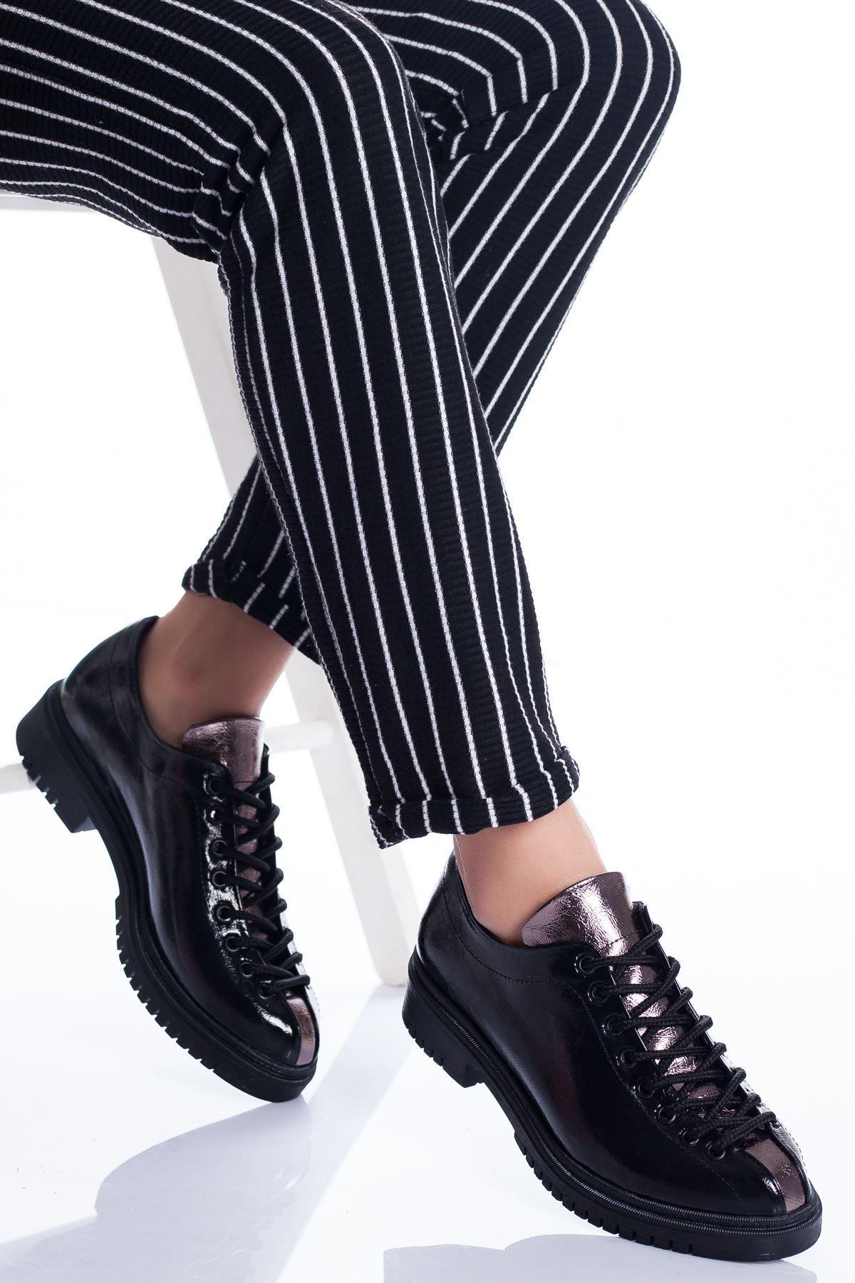 Tamara Ayakkabı SİYAH RUGAN