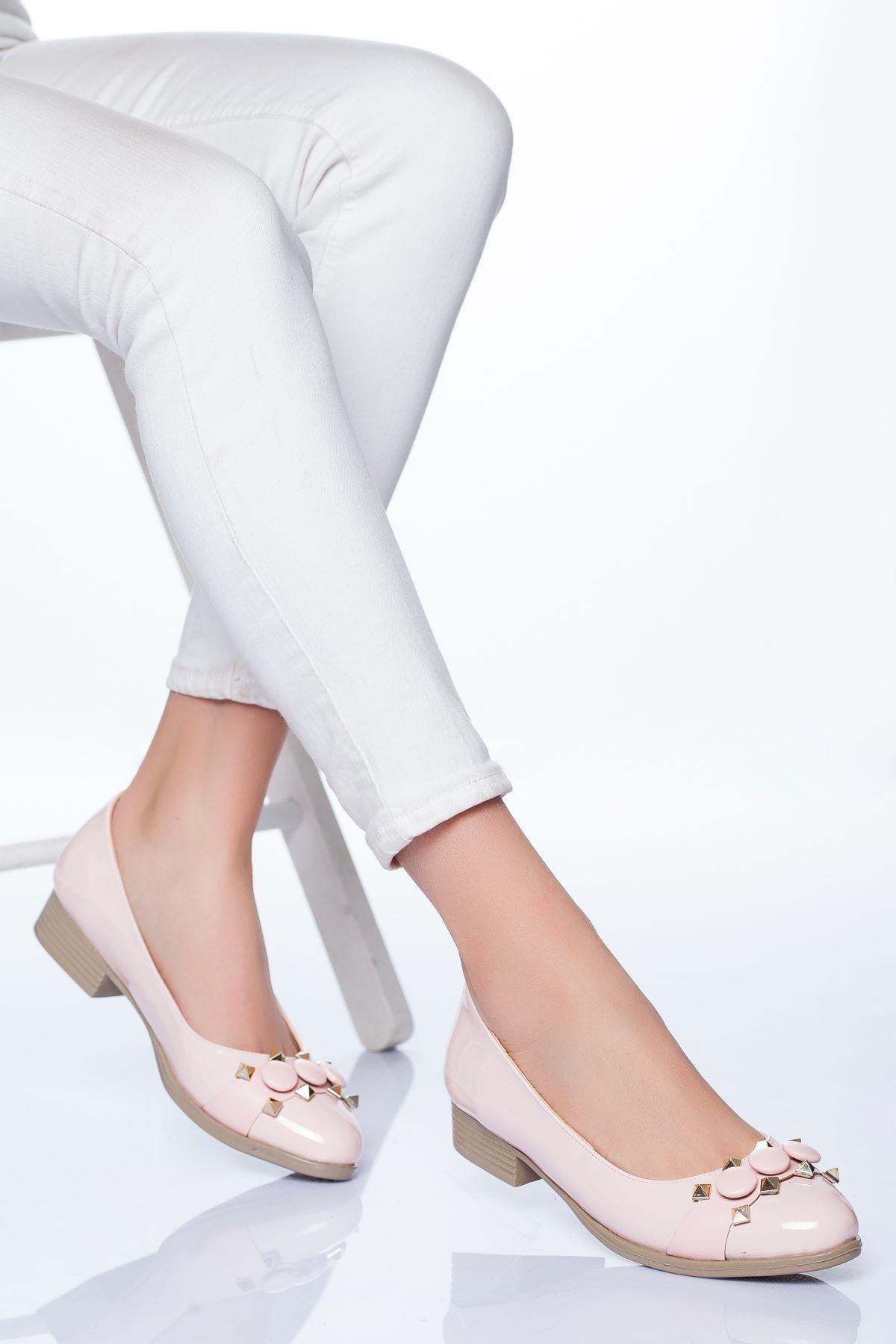 Lucy Babet Ayakkabı Pudra Rugan