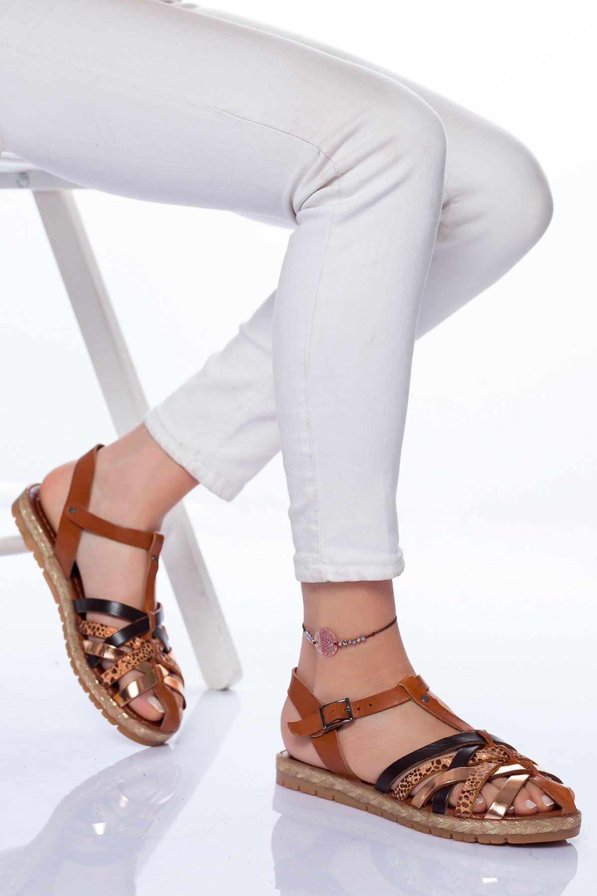 Holle Deri Sandalet MİX2