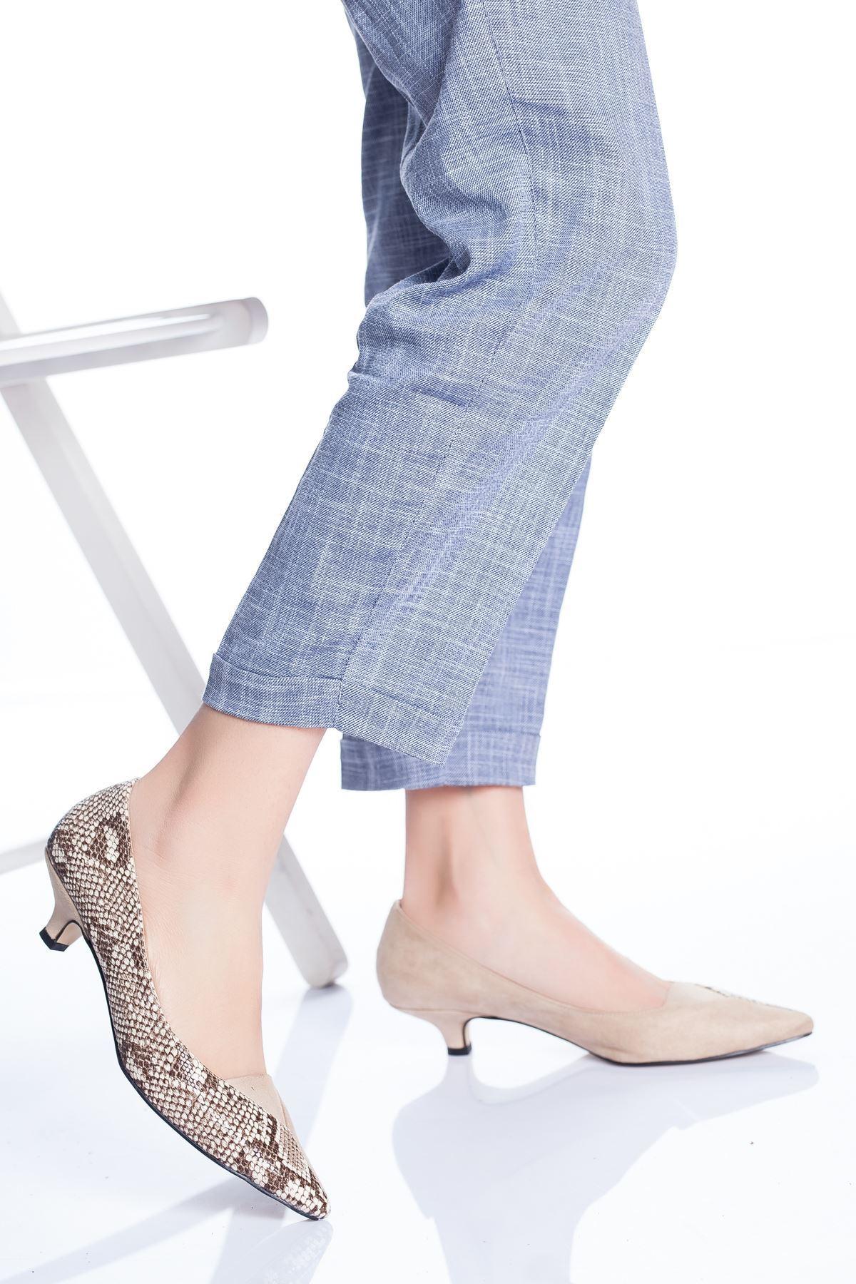 Odella Topuklu Ayakkabı TEN-YILAN