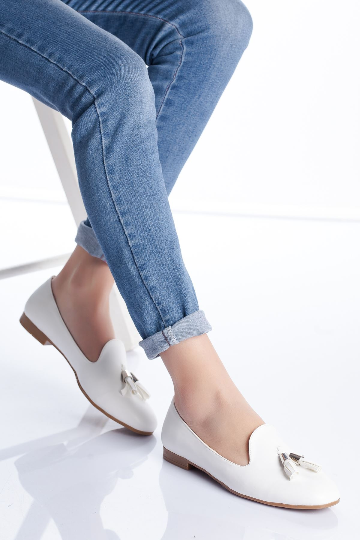 Kiya Babet Ayakkabı BEYAZ