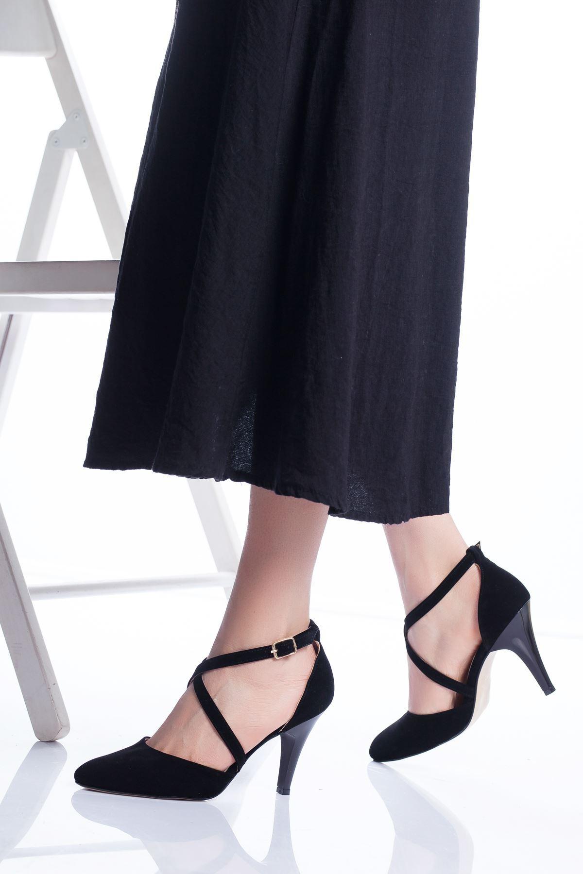 Gabel Topuklu Ayakkabı SİYAH SÜET