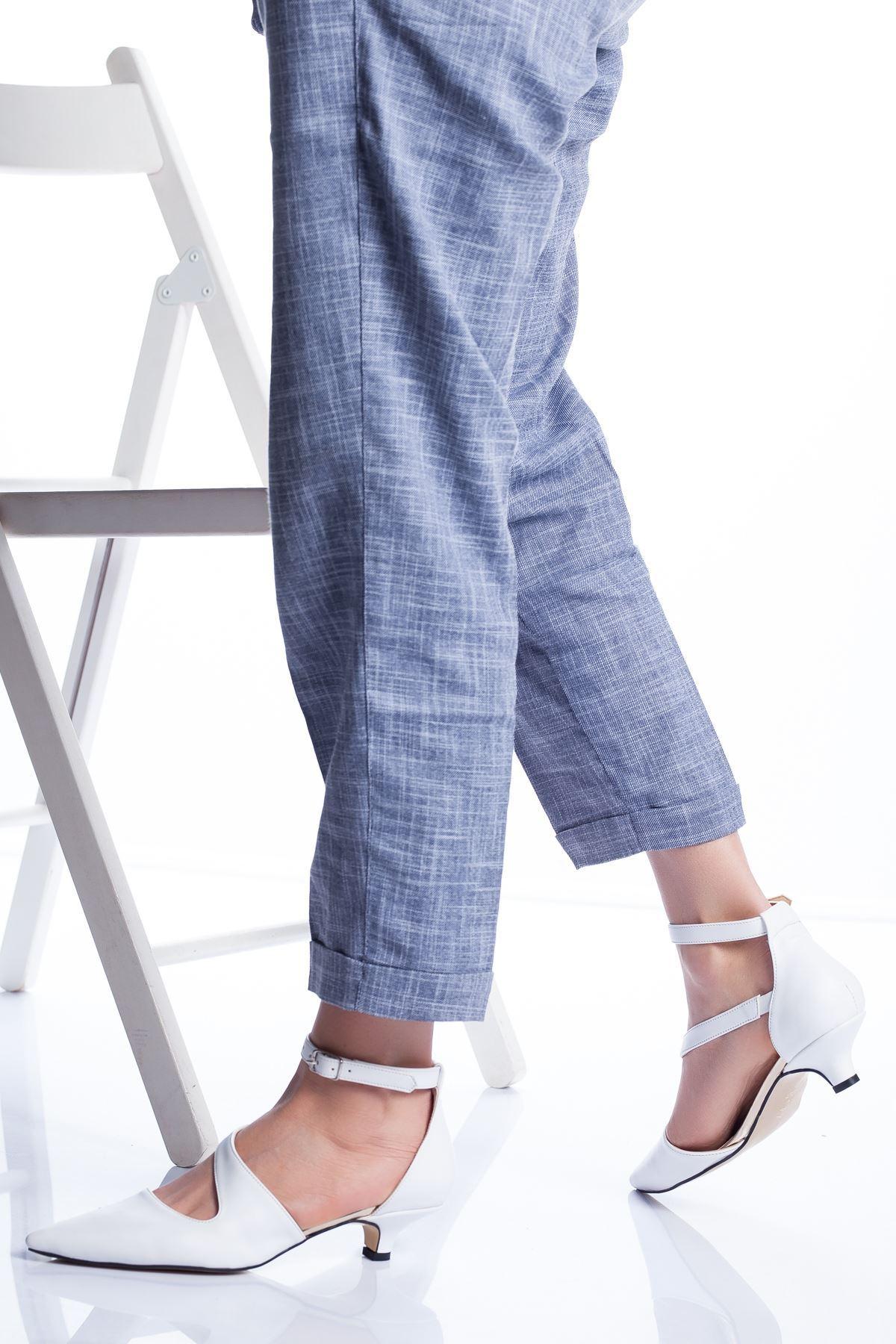 Costa Topuklu Ayakkabı BEYAZ CİLT