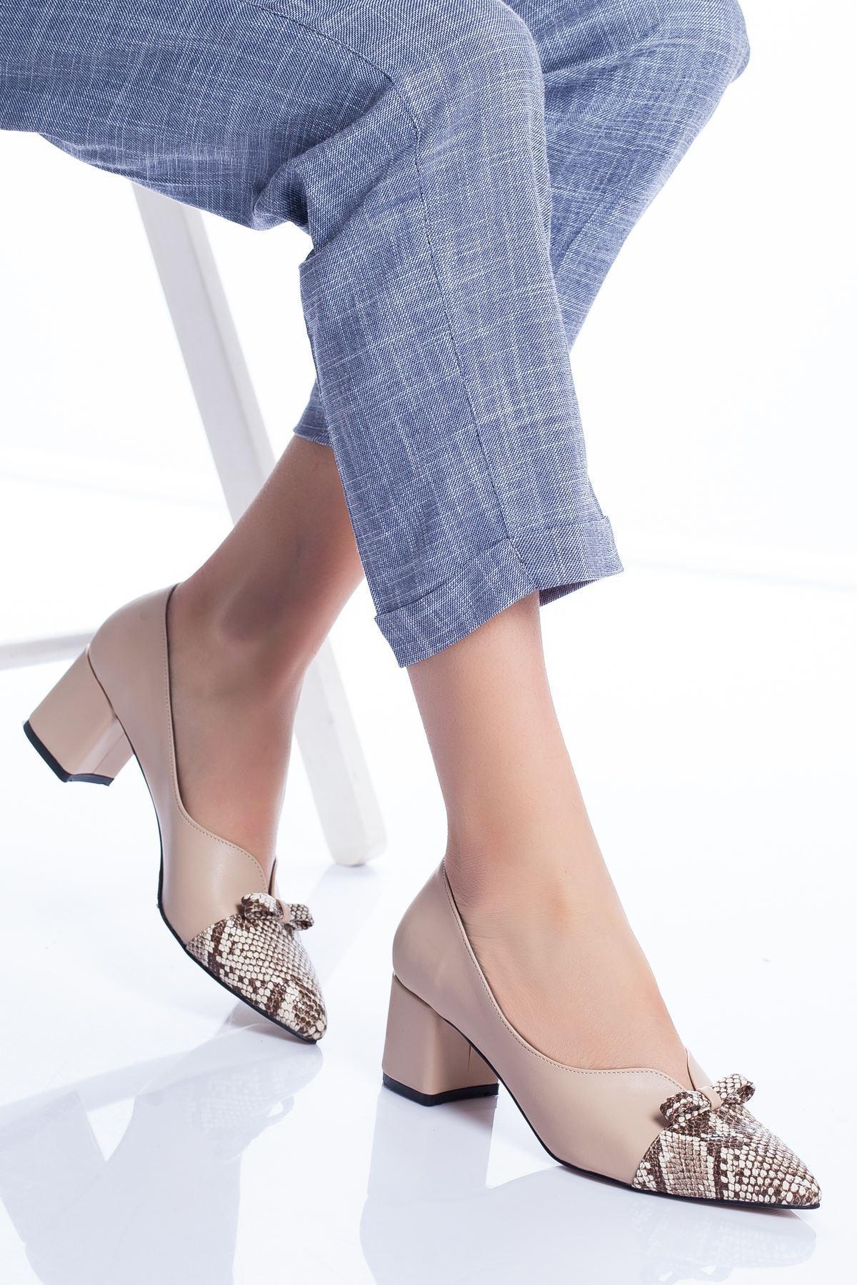 Marisa Topuklu Ayakkabı TEN-YILAN