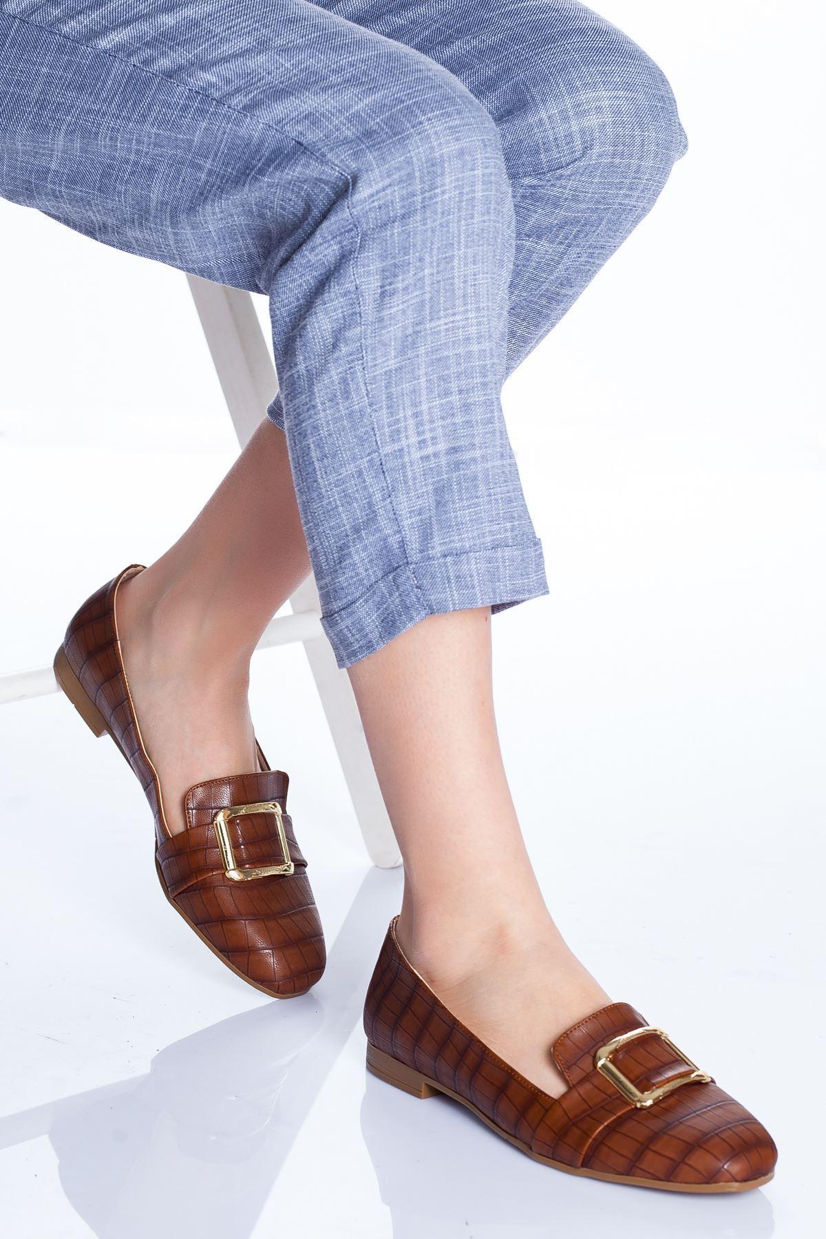 Hazel Babet Ayakkabı TABA-CROC