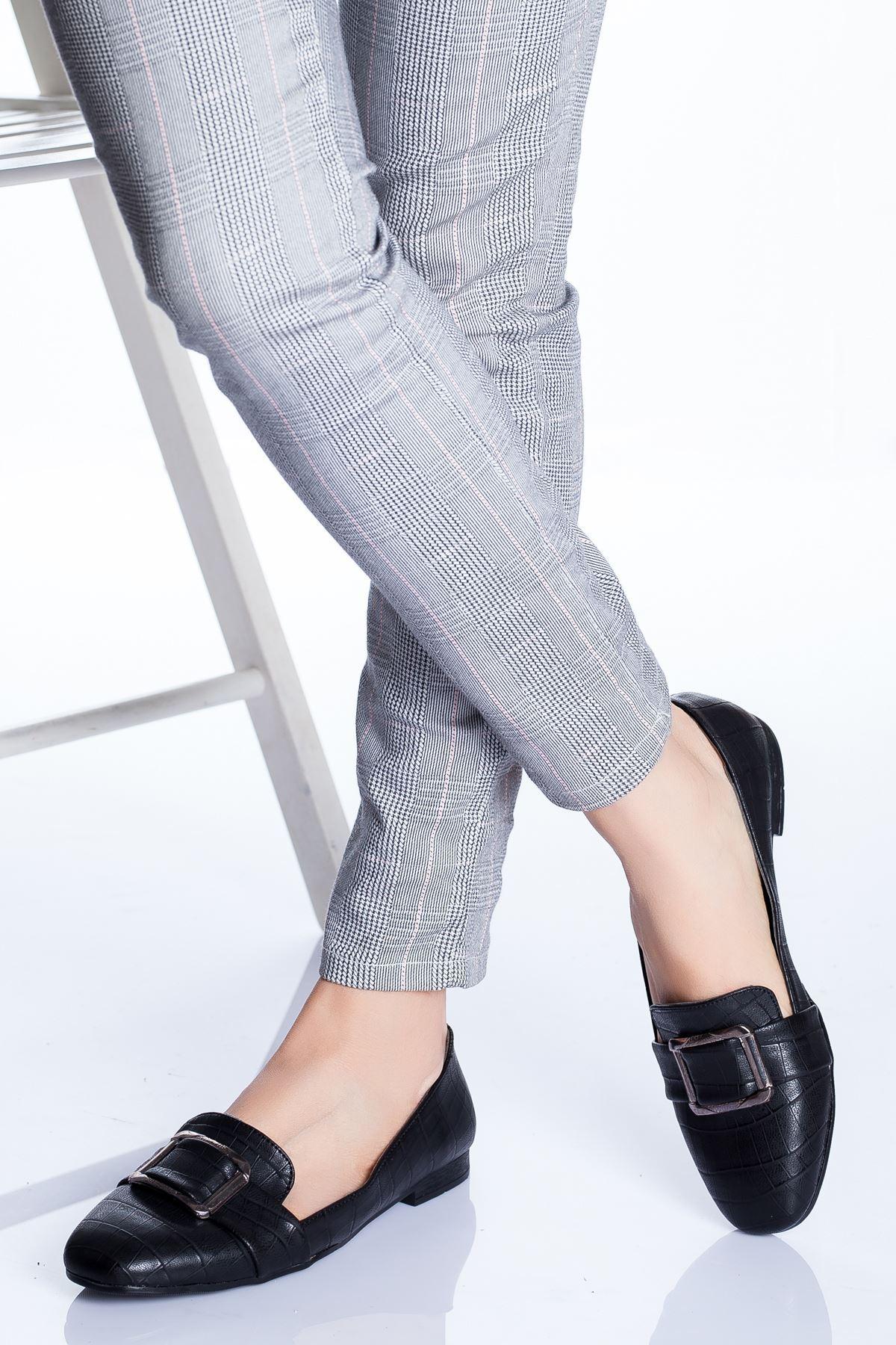 Hazel Babet Ayakkabı SİYAH CROC