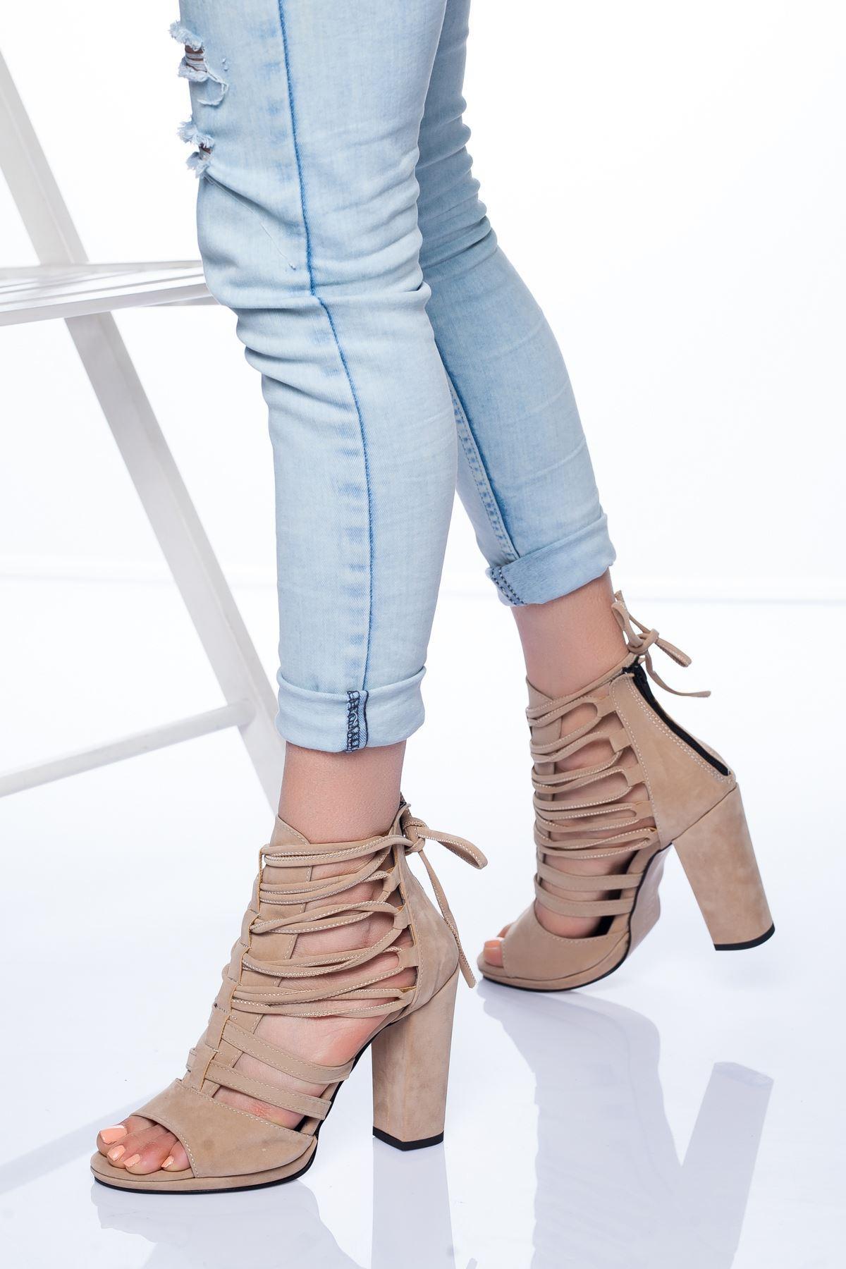 Petra Topuklu Ayakkabı TEN SÜET