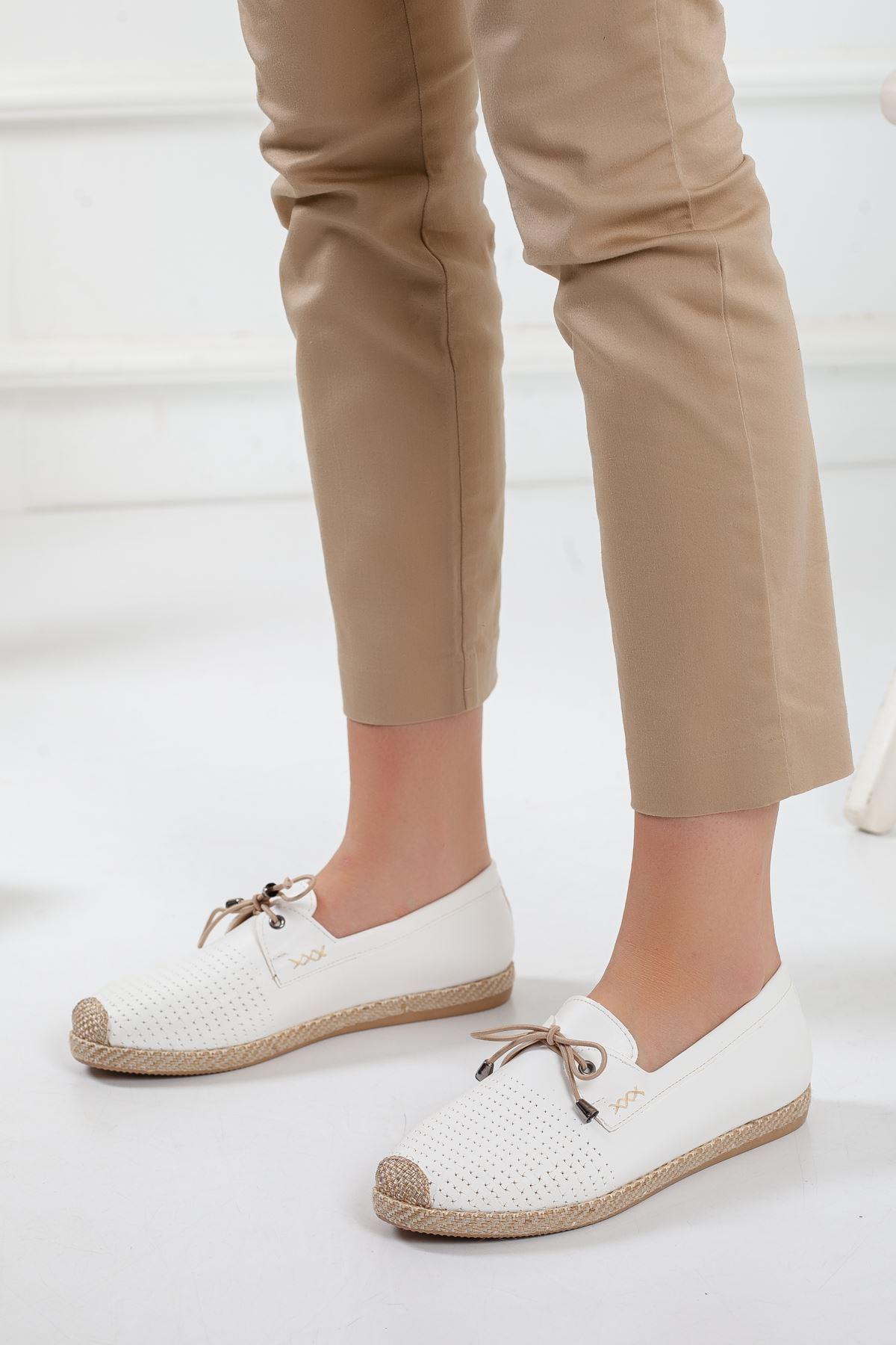 Nesli Ortapedik Babet Ayakkabı BEYAZ